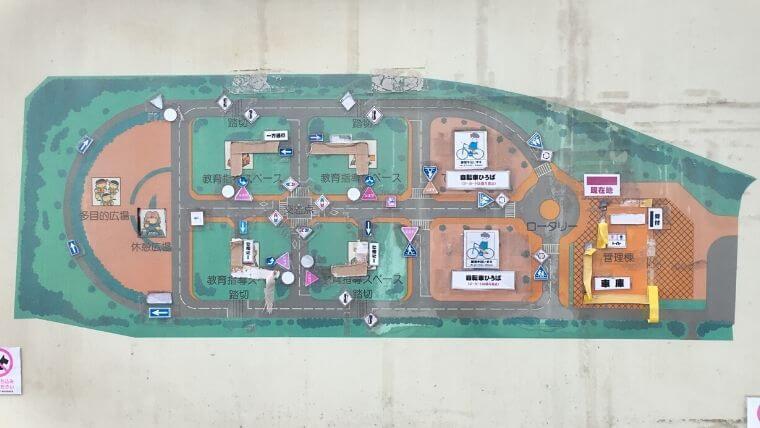 花見川緑地交通公園 案内図
